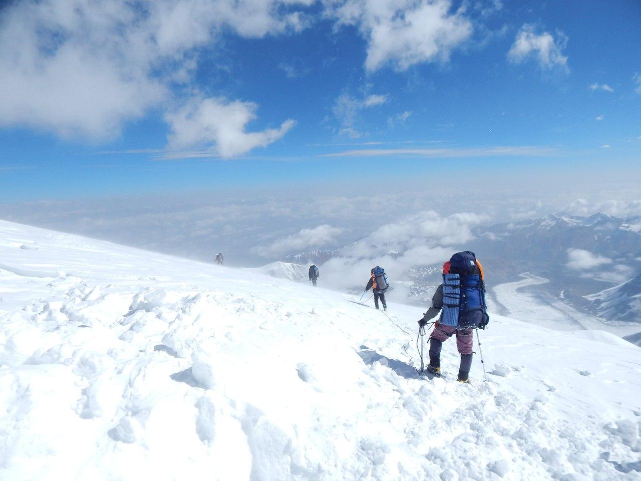 пик Ленина, спуск из С3, 6100 м