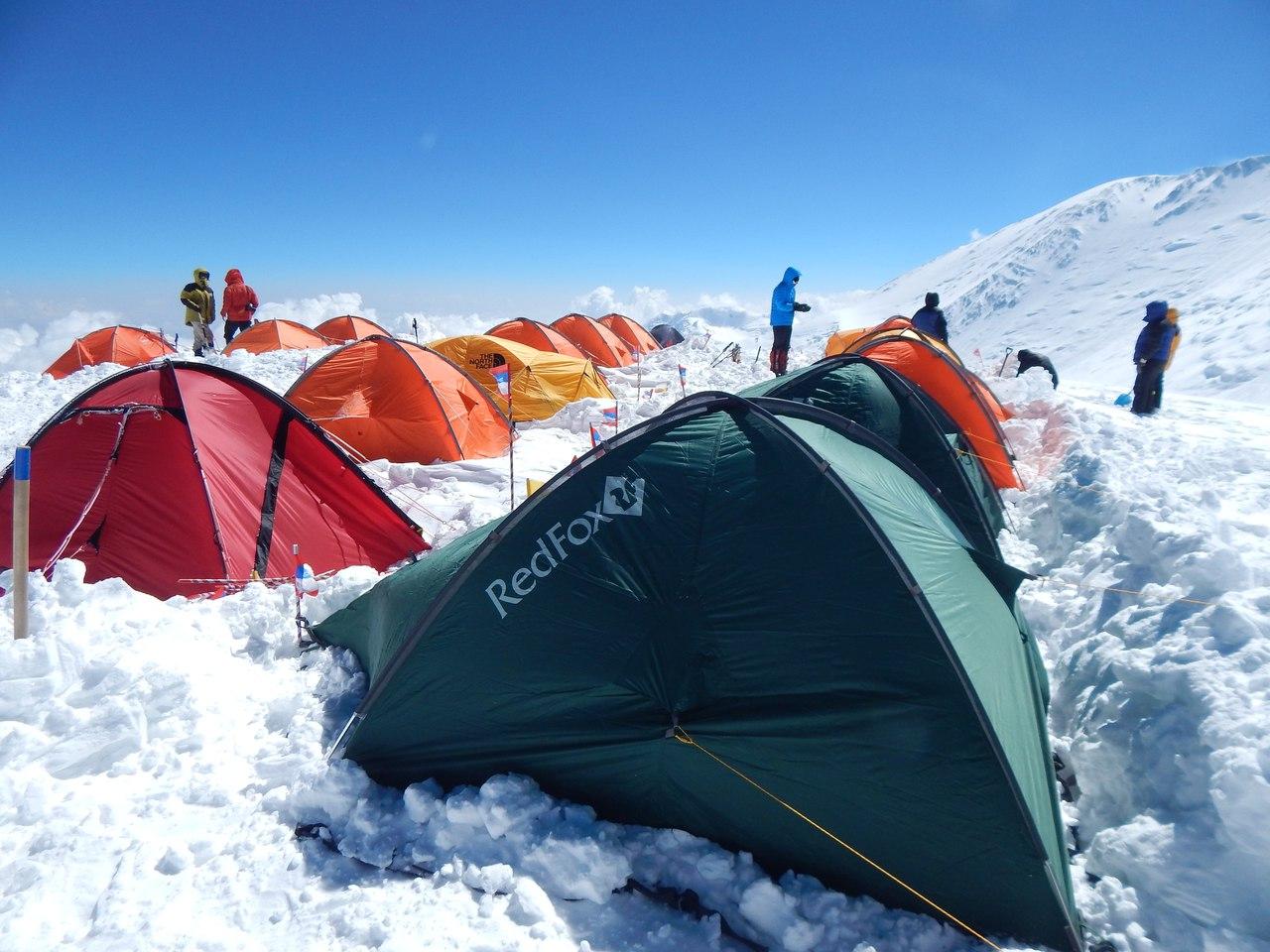 пик Ленина, установка лагеря 3, 6100 м
